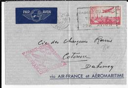 1937 - AEROMARITIME Et AIR FRANCE - ENVELOPPE Par AVION De PARIS => COTONOU (DAHOMEY) - Poste Aérienne
