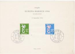 Europa Cept, Saarland Nr. 439/40/96, Amtl. Sonderblatt (A 101) - Europa-CEPT