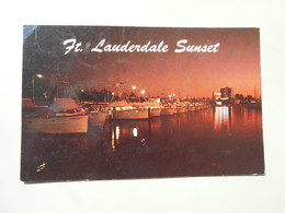 ETATS-UNIS FL FLORIDA  FORT LAUDERDALE SUNSET......... - Fort Lauderdale