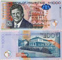MAURITIUS       1000 Rupees       P-63c       2016       UNC - Mauritius