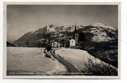 Saint Nicolas La Chiesa Sfondo Monte Emilius Viaggiata 1949 # - Aosta