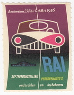 Amsterdam 23 Febr. T/m 4 Mrt. 1956 - 36e Tentoonstelling RAI Personenauto's - Sluitzegel - Oude Documenten