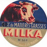 ETIQUETTE FROMAGE CAMEMBERT  VACHE MILKA  Fab Dans Le Maine   -  Mayenne  53-F - Fromage