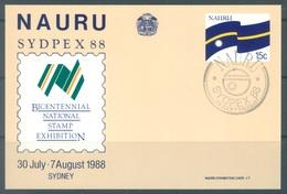 NAURU - 1988 - SYDPEX 88 - EXHIBITION CARD  - Lot 16752 - Nauru