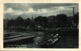 AMSTERDAM BIJ MAANLICHT BINNEN AMSTEL - Amsterdam