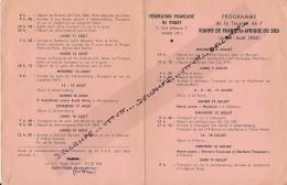 Rugby: Rare Programme De La Tournée De L'Equipe De France En Afrique Du Sud (Juillet-Août 1958) édité Par La Fédération - Rugby