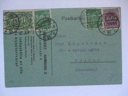 GERMANY - 1923 Inflation Postcard - Hamburg To Kalmar Sweden - 480 Dm Rate - Germany