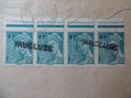 LETTRE GRIFFE VAUCLUSE SUR BLOC MERCURE CACHET AVIGNON 1945 - Postmark Collection (Covers)