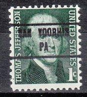 USA Precancel Vorausentwertung Preo, Locals Pennsylvania, Van Voorhis 853 - Vereinigte Staaten