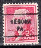 USA Precancel Vorausentwertung Preo, Locals Pennsylvania, Verona 712 - Vereinigte Staaten