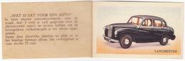 No. 13  - LANCHESTER SPRITE '56 - 'Wat Is Dat Voor Een Auto?'  - Van Hus Beschuit, Ontbijtkoek - Den Haag - Chromo