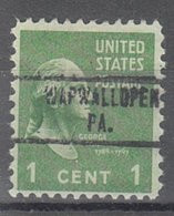 USA Precancel Vorausentwertung Preo, Locals Pennsylvania, Wapwallopen 734 - Vereinigte Staaten
