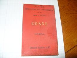 Carte Hachette Cosne Sur Loire Et Région Tirage 1890 - Cartes Routières