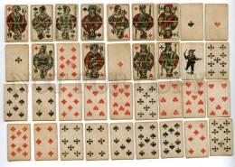 145091 Vintage German 35 PLAYING CARDS Deck W/ King Joker - Playing Cards