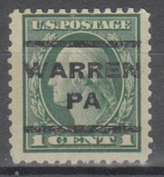 USA Precancel Vorausentwertung Preo, Locals Pennsylvania, Warren 202, Perf. 11x11 - Vereinigte Staaten