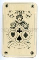 145126 Vintage PLAYING CARD JOKER Circus Girl - Playing Cards