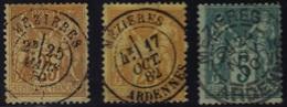 Mézières (Ardennes) : Cachet à Date Type 17 - 18 - 84 Sur Sage. - Marcophilie (Timbres Détachés)