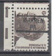 USA Precancel Vorausentwertung Preo, Locals Pennsylvania, Warren 839 - Vereinigte Staaten