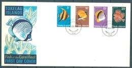 TOKELAU - 19.11.1975 - FDC -  FISH OF THE CORAL REEF - Mi 38-41 Yv 45-48 - Lot 16755 - Tokelau