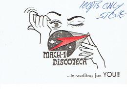 Carte De Visite Mach-1 Discoteca, Carretera De Cadiz, Torremolinos, Espagne (années 1970) - Cartes De Visite