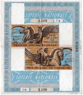 LOTERIE NATIONALE 1954 Prix De L Arc De Triumphe Courses De Chevaux VENDUE En ALGERIE 2scans - Lottery Tickets