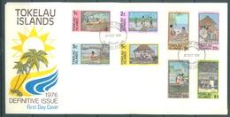 TOKELAU - 27.10.1976 - FDC -  DEFINITIVE ISSUE - Mi 42-49 Yv 49-56 - Lot 16756 - Tokelau