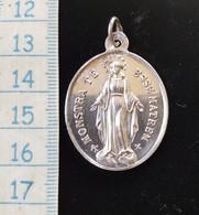 Pendentif Argent, Medaille Religieuse Congrégation Des Enfants De Marie, 19 Eme - Ethnics