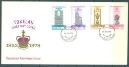 TOKELAU - 28.6.1978 - FDC -  CORONATION SILVER ANNIVERSARY - Mi 54-57 Yv 61-64 - Lot 16758 - Tokelau