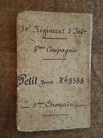 1899 - Livret Individuel De Tir - Mr Petit Jean, Matricule 8388, 54 è Régiment D'Infanterie, 6 è Compagnie, 5 è Escouade - Documents