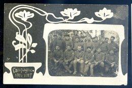 Cpa Carte Photo Groupe De  Soldats Campagne 1914-1917  AVRIL18-17 - Ausrüstung