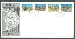TOKELAU - 7.11.1979 - FDC -  SPORT ISSUE - Mi 62-65 Yv 69-72 - Lot 16760 - Tokelau