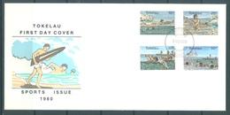 TOKELAU - 5.11.1980 - FDC -  SPORT ISSUE - Mi 66-69 Yv 73-76 - Lot 16761 - Tokelau