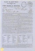 35. Saint-Malo. L'Union Malouine Et Servannaise. Police D'assurance Maritime - 1863 - VR_SM_Ver8 - France