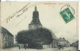 TOUROUVRE - L'église Et La Mairie ( Attelage) - Otros Municipios