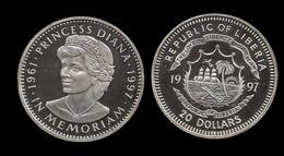 20 $ . DIANA 1997 . IN MEMORIAM . - Liberia