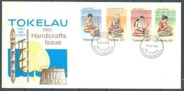 TOKELAU - 5.05.1982 - FDC -  HANDICRAFTS ISSUE - Mi 74-77 Yv 81-84 - Lot 16763 - Tokelau