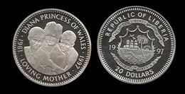 20 $ . DIANA 1997 . LOVING MOTHER . - Liberia
