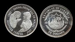 20 $ . DIANA 1997 . MERE TERESA . - Liberia