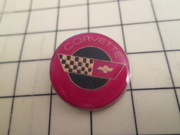 Pin910e Pin's Pins / Rare Et Beau THEME AUTOMOBILES / LOGO DE LA MARQUE CORVETTE - Corvette