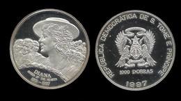 PRINCESSE DIANA . 1000 DOBRAS 1997 . - Sao Tome And Principe