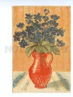 147795 Flowers In Vase By IVANOVA Vintage Russian 1945 PC - Illustrators & Photographers