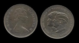 25 NOUVEAUX PENCES . MARIAGE DU PRINCE CHARLES ET DE LADY DIANA SPENCER . 1981 . - 1971-… : Monnaies Décimales