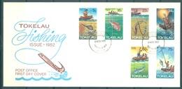 TOKELAU - 3.11.1982 - FDC -  FISHING ISSUE - Mi 78-83 Yv 85-90 - Lot 16764 - Tokelau