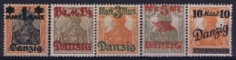 Danzig Mi Nr 41 II - 46 II  Without Nr 43   MNH/**/postfrisch/neuf Sans Charniere Unterdruck Lilagrau - Danzig