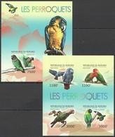 X1541 !!! IMPERFORATE 2012 BURUNDI FAUNA BIRDS LES PERROQUETS 1KB+1BL MNH - Perroquets & Tropicaux