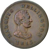 Monnaie, Canada, Marquis Wellington, Halfpenny Token, 1813, TTB, Cuivre - Canada