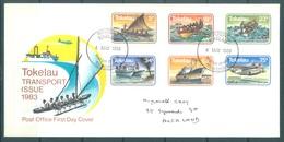 TOKELAU - 4.5.1983 - FDC -  TRANSPORT ISSUE - Mi 84-89 Yv 91-96 - Lot 16765 - Tokelau