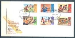 TOKELAU - 2.11.1983 - FDC -  PASTIMES  ISSUE - Mi 90-95 Yv 97-102 - Lot 16766 - Tokelau