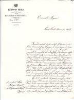 Pennabilli Per Torino, Interessante Contenuto Di Lettera Inviata Al Deputato Silvani 1861 - Manuscripts