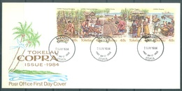 TOKELAU - 2.5.1984 - FDC -  COPRA  ISSUE - Mi 96-100 Yv 103-107 - Lot 16767 - Tokelau